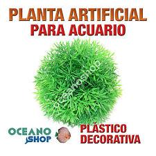 PLANTA ARTIFICIAL 10CM VERDE DECORACIÓN ACUARIO PECERA PLÁSTICO DIÁMETRO D81