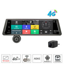 "10"" Touch Screen bundled Rearview Mirror Car DVR Camera 4G wifi ADAS Android GPS"