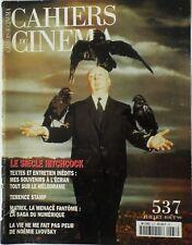 CAHIERS DU CINÉMA N° 537/Le Siècle d'Hitchcock/Lvovsky/Terence Stamp/Matrix
