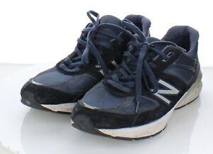 G45  $175 Men's Sz 12 M NEW Balance 990v5 Suede & Mesh Running Shoe In Navy