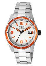 New Invicta Men's INVICTA-14118 Pro Diver Orange Accent Silver Watch