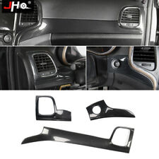 Plastic Carbon Grain Dashboard Outlet Cover Trim For Jeep Grand Cherokee 2014-19
