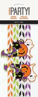 8 HALLOWEEN DECAL STRIPED PAPER STRAWS TABLE DECORATION PARTY SUPPLIES
