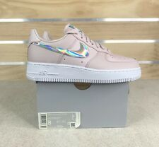 New Nike Air Force 1 Low Pink Iridescent AF1 Shoes CJ1646-600 Women's Size 8