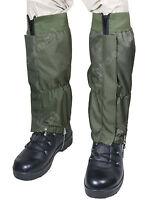 Waterproof Rip Stop Gaiters Olive Green - Winter Hiking Walking Heavy Duty New
