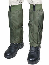 Military WATERPROOF RIPSTOP Hiking Walking GAITERS - Olive Green Heavy Duty New