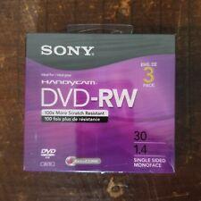 Sony Handycam Dvd-Rw 3-Pack 30 Min, 1.4Gb, 3Dmw30R2Hc, New/Sealed