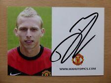 2009-10 Ritchie De Laet Signed Man Utd Club Card (5736)
