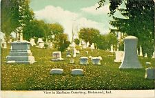 A View In Earlham Cemetery, Richmond IN Indiana 1912