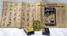 1930's LINEMAR MARX MATCH BOX MATCHBOX VEST POCKET BUILDER CONSTRUCTION SET