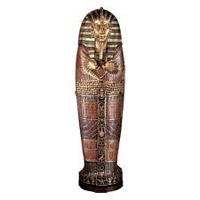 FY1059 - King Tutankhamen's Life-Size Sarcophagus Cabinet -Over 6' Tall! New!