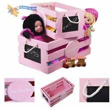 Articles de maison roses en bois pour le monde de l'enfant