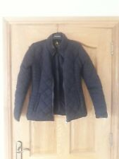primark ladies black quilted jacket uk 8