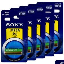 5 x SONY Alkaline LR23A batteries 12V A23 MN21 K23A 3LR50 LRV08 Alarm Calculator