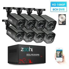 Outdoor Home Security Cctv Camera System Dvr Kit Waterproof Video Surveillance