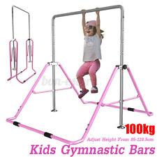 Adjustable Gym Horizontal Bar Kids Gymnastics Training Kip Kids Teens Home Play