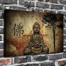 Buddha Stone Sculpture Painting HD Print on Canvas Home Decor Wall Art Picture
