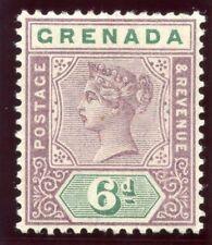 Grenada 1895 QV 6d mauve & green MLH. SG 53. Sc 44.