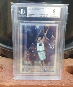1997-98 Tim Duncan Beckett 9 Topps Chrome Basketball Rookie #115 *NICE* HOF 2021