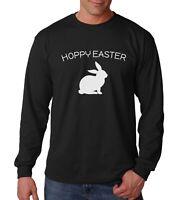 Long Sleeve Hoppy Easter T Shirt Happy Easter Sunday Bunny T-Shirt Holiday Tee