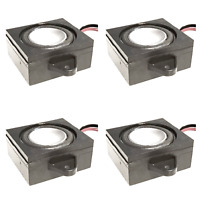 4x Mega Bass 1 Inch Square Speakers For TTS Loksound 4 5 & Zimo DCC Sound, 8 Ohm