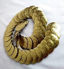 Vtg Gold Coin Western Concho Belt Hippy Boho Cowgirl Bohemian Gypsy Small Medium