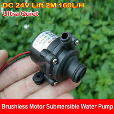 Ultra Quiet Mini DC 24V Lift 2M 160L/H Brushless Motor Submersible Water Pump