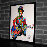 Robert Johnson Singer Blues Guitar Music Poster Print Wall Art 18x24