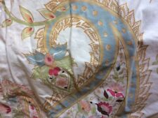 Pottery Barn Duvet Cover Queen / Full Coloroful Paisley Pastel Ivory Match Shams