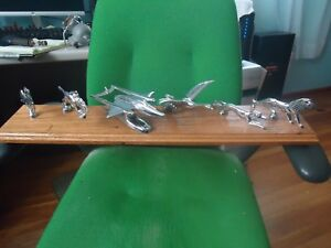 HARLEY DEALER DISPLAY  FRONT FENDER ORNAMENTS FROM THE 40-50'S RARE BOX AND PACK