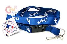 MLB Los Angeles Dodgers Lanyard Key Chain ID Ticket Holder LA Dodgers Blue