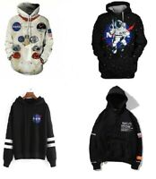 NASA Logo Space Rocket Astronaut Neil Armstrong Pullover Hoodie Sweatshirt