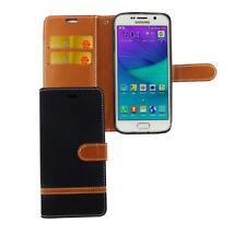 Samsung Galaxy S6 Edge Étui Coque Téléphone Portable Protection Pochette de Noir