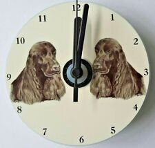 Cocker Spaniel CD Clock by Curiosity Crafts