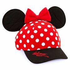 Disney Parks Minnie Mouse Polka Dot Snapback Hat Cap Bow & Ears DISNEYLAND NWT
