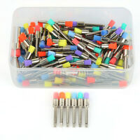 100PCS Mixed Color Nylon Latch Flat Polishing Polisher Prophy Bowl Dental Brush-