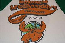 vtg '83 Moose McGillycuddy's Waikiki Hawaii Raglan t shirt Moosehead Beer M S/M