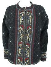 Mac Duff Shetland Wool Lined Sweater Jacket Full Zip Large
