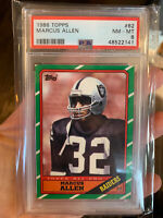 1986 Topps Football #62 Marcus Allen card PSA 8 NmMt! Los Angeles Raiders!🔥🔥🔥