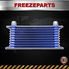 Universal 10 Row AN10 262mm Engine Transmission Aluminum Oil Cooler Blue