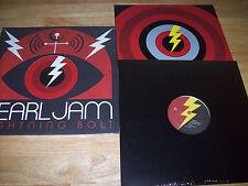 "NEW RARE Pearl Jam 1st PRESSING Lightning Bolt STICKERS 180 GRAM & FIXED 12"" LP"