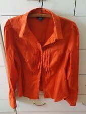 CUE SHIRT Burnt Orange Blousse Work  Size 12