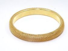 "CHUNKY 18K GOLD PLATED  10 mm WIDTH CHAIN BANGLE BRACELET ~ 2.5"" Dia."