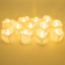 12pcs/set Bright Flameless LED Tea Lights Candles Tea Light Waterproof Home