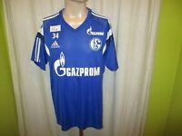 FC Schalke 04 Adidas Spieler Freizeit-Training Trikot 2014/15 + Nr.34 Gr.XL