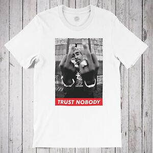 TUPAC 'TRUST NOBODY' T-SHIRT - Vintage Hip Hop, 2pac jersey, supreme threads
