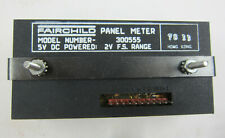 Fairchild Panel Meter Model 300555 5VDC powered 2V F.S. Range New Open Box