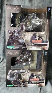 Batman Arkham Knight ArtFX + Statue 1/10 Scale Pre-Painted Kotobukiya Set