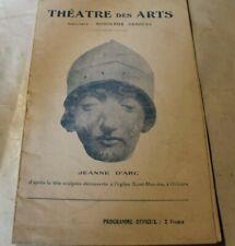 Programme Théâtre des Arts Paris JEANNE D ARC 1924 1925
