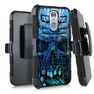 Holster Case For LG Stylo 5 / Stylo 5 Plus Phone Cover - BLUE CURSED SKULL